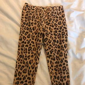 Used gap leopard print leggings 5t